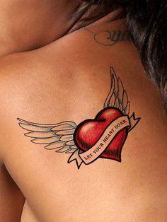 Soaring Heart Tattoo