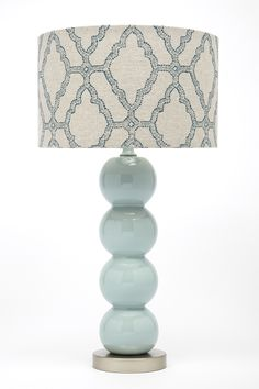 Lacefield for Gallery Designs CL319 ceramic lamp with Lacefield Kai Capri textile shade