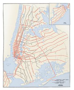 historical map | plans for new york subway expansion 1920 // cameron booth.
