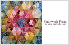 Anna Maria's Patchwork Prism Quilt and coordinating Patchwork Prism Pillow Sham Variation