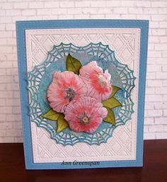 Ann Greenspan's Crafts: Lavatera -- 2 Cards
