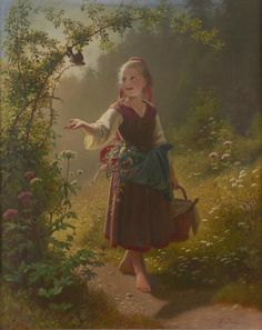 Hans Dahl (Norwegian, 1849-1937) Woodland dreams. signed 'H. Dahl' (lower right) (71.2 x 57cm)