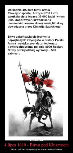 motivator-battle of Kluszyn annivesary Sms Jokes, Warsaw Uprising, Poland History, Polish Language, Visit Poland, 4 Lipca, Modern Warfare, Strong Quotes, Fun Facts
