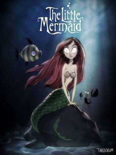 Arielle, die Meerjungfrau: In dieser Gothic-Version hat Arielle sogar Kiemen.