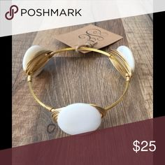 SUMMER BLOWOUT SALE-Mother of Pearl Bracelet Sydney Elle Designs  A timeless stone for a Classic look!  3 Round Mother of Pearl stones.  Locally Handmade in South Carolina Jewelry Bracelets
