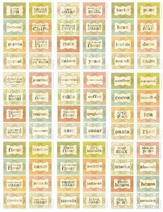 Cute Pantry Kitchen Stickers