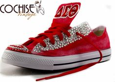 We do all Greek Chuck Taylors. Please send note for designs on specific Fraternity or Sororities.  These are custom made Chuck Taylors by Cochise.