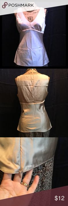 Express Design Studio Beige/Taupe Satin-like Cami Express Design Studio Beige/Taupe Satin-like Cami.  Size medium.  Side zipper closure.  In excellent condition Express Tops Camisoles