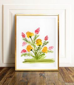 This is a one-of-a-kind, original watercolor painting of yellow carnations. This artwork is hand painted and signed by me, the artist. It is NOT a copy or a print, you receive an authentic and unique piece of art! I painted this floral watercolor using extra fine watercolor paints on artist quality