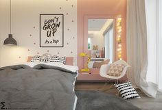Jugendzimmer in rosa, grau und weiß gehalten Youth room in pink, gray and white My New Room, My Room, Girls Bedroom, Bedroom Decor, Girl Rooms, Bedroom Ideas, Teen Bedroom Colors, Bedroom Furniture, Furniture Ideas