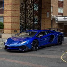 Lamborghini Aventador Super Veloce Coupe painted in Blu Sideris  Photo taken by: @bd.automotive on Instagram (@the_luxurious_cars on Instagram, his father is the owner of the car)
