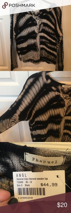 ANGL Sweater Black and grey tie dye print sweater. Very soft! Never worn and new with tags!! ANGL Sweaters Crew & Scoop Necks