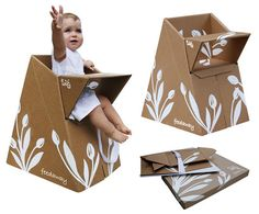 Cardboard High Chair | 34 Gifts For The Coolest Baby You Know
