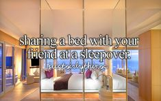 sharing a bed with your friend at a sleepover
