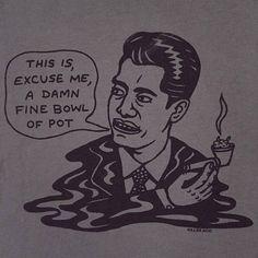 Damn Fine Bowl of Pot Unisex t-shirt Gray Unisex 56fcee8dd3123