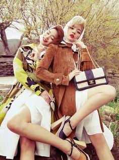 """Dreaming of Dior: """"Blossom Breeze"""" Han Kyung Hyun & Seon Hwang for Vogue Korea May 2015"""