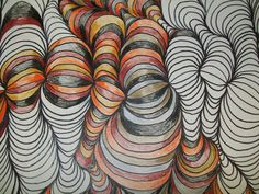 Op Art: Line Design w/ Shading- The Steps Op Art, Classe D'art, 4th Grade Art, Ecole Art, School Art Projects, Craft Projects, Middle School Art, Art School, Elements Of Art