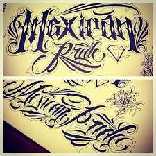 Resultado de imagen para mexican lettering style