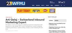 Arti Qelaj – Switzerland Inbound Marketing Expert WFMJ - Press release screenshot Marketing Automation, Inbound Marketing, Email Marketing, Sephora App, Beauty Companies, Interesting Topics, Content Marketing Strategy, Story Video