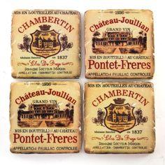 Wine Label Coasters