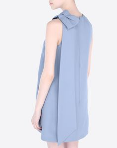 Valentino Online Boutique - Valentino Women Crepe Couture Dress With Bow