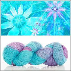 "Expression Fiber Arts Yarn ~ ""Frozen Dreams"" Resilient Superwash Merino Sock Weight (400 yds.)"