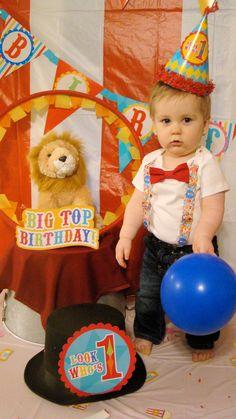 Circus Birthday Outfit Baby Boy Carnival Theme Animals Big Top – Noah's Boytique