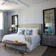 The walls are a gray with a hint of lavender – North Star SW 6246 Sherwin Williams.Ceiling paint color is Horizon OC-53 Benjamin Moore.