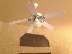 L.O.V.E the idea of painting ceiling fan....thinking rustoleum hammered bronze on hardware