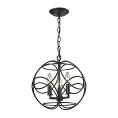 31811/3 | Chandette 3 Light Pendant In Oil Rubbed Bronze - 31811/3