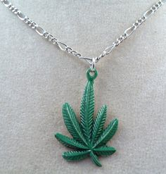 Hand Painted Pewter Large Marijuana Leaf by GoldChestJewelry, $9.95