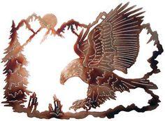 Wildlife Metal Art | Eagle Wildlife Metal Art Rustic Cabin Lodge Wall Decor | eBay