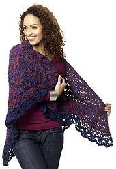 Requires 4 skeins (800 yds.) of the print yarn and one skein (315 yds. or less) of the solid color for the edging.