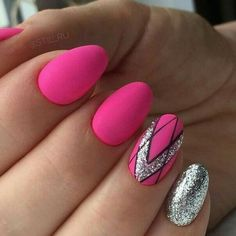Neonowe Paznokcie – TOP 30 Niesamowitych Inspiracji na Ten Sezon! Neon Nails, Shellac Nails, Purple Nails, Cute Nails, Pretty Nails, Hair And Nails, My Nails, Nail Art Designs, Gel Nails At Home