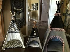 Dog Teepees! Available in different sizes and colors! #onecrazygigi #dog #teepee