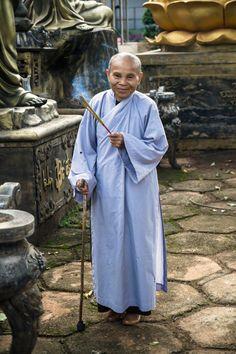 Vietnamese buddhist monk. #vietnam #travel #religion