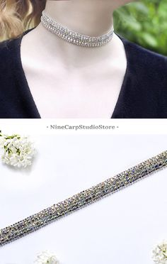 $12.98 Rhinestone choker necklace for women | Party jewelry ideas | Trendy necklace 2017 | Gift idea for woman #choker #necklace #giftidea