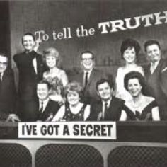 """Great game shows """"To Tell The Truth"""" and I've Got a Secret"""" 1950's to 60's."""