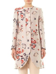 Stella McCartney The Lea wild flower-jacquard coat Stella Mccartney Coat, Cream Coat, Spring Jackets, Floral Tops, Kimono Top, Style Inspiration, My Style, Womens Fashion, How To Wear