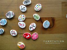 painted clay beads: by Tamptation