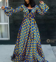 Here are some lovely ankara maxi gowns that are really worth buying this season. They come in different styles and designs just to make your fashion look stylish. Ankara Maxi Dress, African Maxi Dresses, African Attire, African Wear, African Women, Ankara Gown Styles, Ankara Gowns, Maxi Gowns, African Inspired Fashion