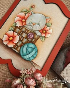 Pintura decorativa atelie Pincel com Arte, artista Silvana Coppola Pintura Country, Country Paintings, Frame, Home Decor, Brush Pen, Craft, Artists, Gatos, Picture Frame