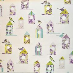 Aviary - Lavender - £12.50 per metre from Kids Fabrics Online Shop