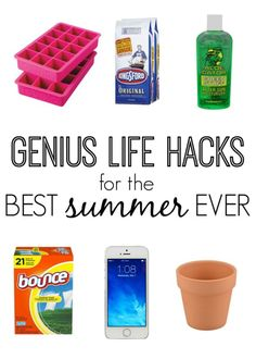 Genius Life Hacks for the Best Summer Ever! Awesome tips and tricks for sunburn relief, traveling, and even s'more making!