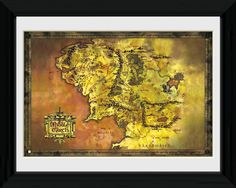 Lord of the Rings - Middle Earth - Big Framed Collector Print