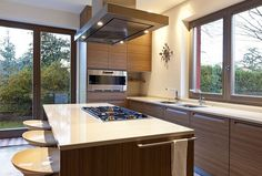 Superb Kitchen Island Vent Hood For Contemporary Interior Decor Ideas Kitchen Island Vent, Island With Stove, Modern Kitchen Cabinets, Kitchen Floor Plans, Kitchen Flooring, Home Decor Kitchen, Kitchen Interior, Kitchen Ideas, Small Open Kitchens