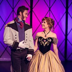 Traci Hines as Anna and Brendan Bradley as Hans from FROZEN