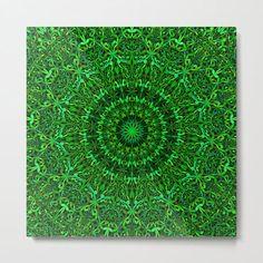 Green Spiritual Mandala Garden Metal Print by David Zydd #BestMetalPrints #MandalaMetalPrint #MandalaDecor #Chakra #Mandala #WallDecor #MandalaWallArt #BohoDecor #Printed (tags: floral graphic, interior design, ornament, floral, mandala print, art, mandala, flower, metal, floral art, artist, design, spiritual, geometry, metal print, yoga, bohemian art) Mandala Print, Bohemian Art, Boho Decor, Spirituality, Wall Decor, Metal, Floral, Prints, Wall Hanging Decor
