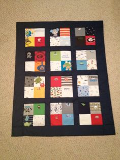 Tshirt Quilts are a great way to clean out your closet and keep all your memories! Custom Tshirt Quilts are availble in any size or color. Just