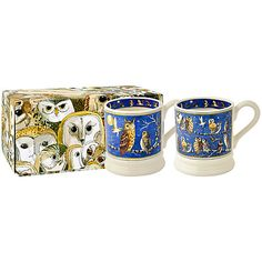 Buy Emma Bridgewater Owls 1/2pt Mugs, Set of 2 Online at johnlewis.com